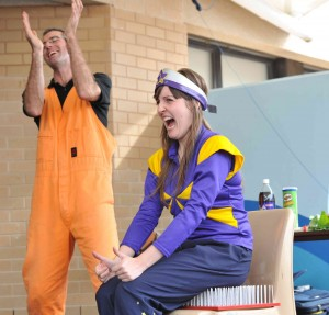 With the Starlight Foundation, Canberra Hospital